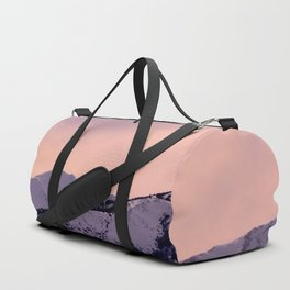 Kenai Mts Bathed in Serenity Rose Duffle Bag