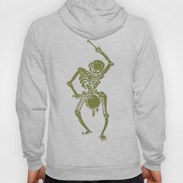 A Zombie Undead Skeleton Marching and Beating A Drum Hoody