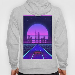 Synthwave Aesthetic Vaporwave Retro 80s 90s car Hoody