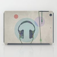 headphones iPad Cases featuring headphones by avoid peril