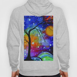 """""""Winter Sparkle"""" Original Whimsical Contemporary Painting, Art by Megan Duncanson MADART Hoody"""