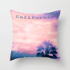 California Pink Throw Pillow