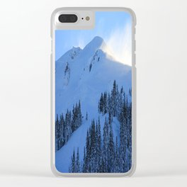 Ghosts In The Snow Clear iPhone Case