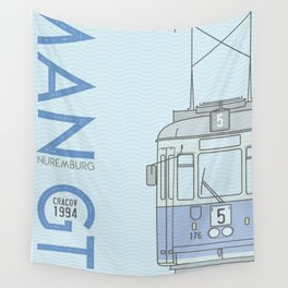 Trams of the World - Cracov Wall Tapestry