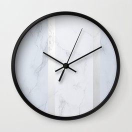 Marble Silver Wall Clock