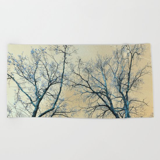Trees nature infrared landscape Beach Towel