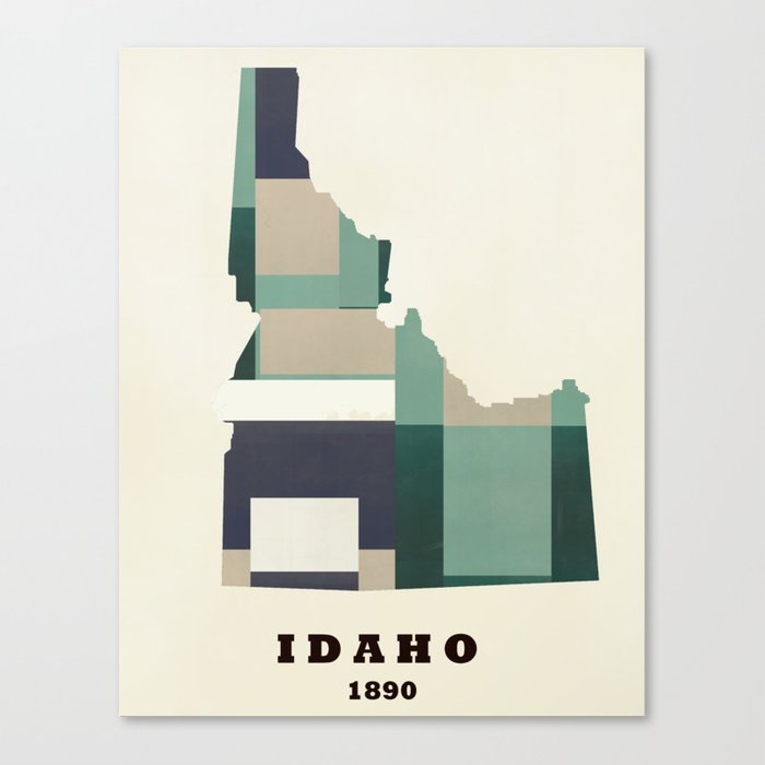 idaho state map modern  Canvas Print