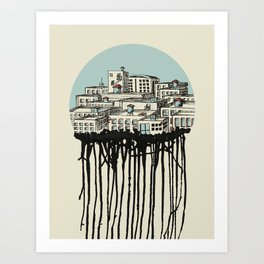 Primary City Art Print
