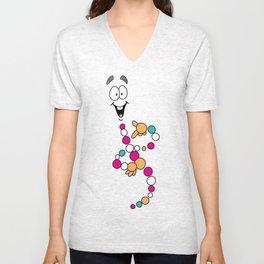 Mr. DNA 1 Unisex V-Neck