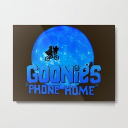 Blue Goonies Phone Home Metal Print