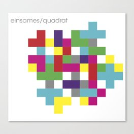 einsames quadrat Canvas Print