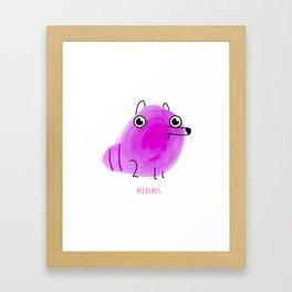 16 - Peluches Framed Art Print