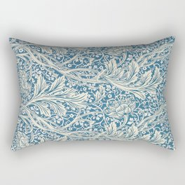 Arcadia Blue and White Floral Pattern, May Morris, 1829 Rectangular Pillow