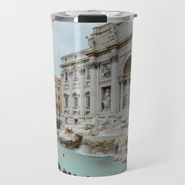 Trevi Fountain | Italian pastel colored houses Travel Mug