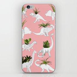 Dinosaurs & Succulents iPhone Skin