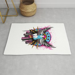 Roller Skater with Angel Wings Rug