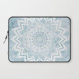 LIGHT BLUE MANDALA SAVANAH Laptop Sleeve