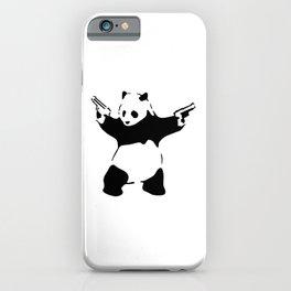 Panda, Banksy, Graffitti iPhone Case