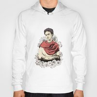 frida kahlo Hoodies featuring Frida Kahlo by Juan Rodriguez Cuberes