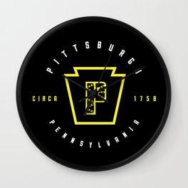 Pittsburgh P Bridge Wall Clock