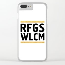 RFGS WLCM - Refugees Welcome Clear iPhone Case