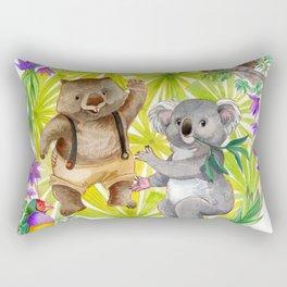 Australian Animals Party Rectangular Pillow