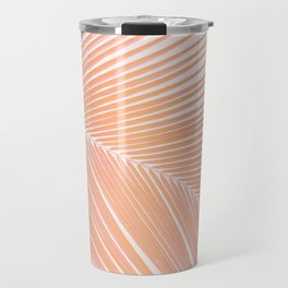 Palm leaf - copper pink Travel Mug