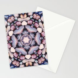 Colorful Circle of Stones Stationery Cards