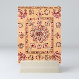 Samarkand Suzani  Antique Uzbekistan Rug Print Mini Art Print