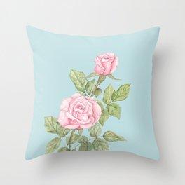 Garden Roses in Bloom Throw Pillow