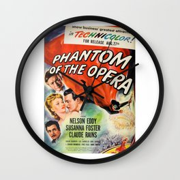 vintage horror movie poster Wall Clock
