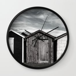 Fishermans home - small huts Wall Clock