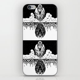 Duality: Angel/Devil Tiling (BW) iPhone Skin