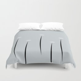 Abstract Minimal Floral Mini Daises Duvet Cover
