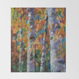 Birch trees - 1 Throw Blanket