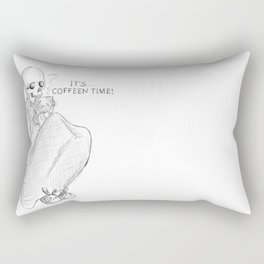 coffeen time! Rectangular Pillow