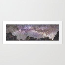Yosemite Milky Way 1 Art Print