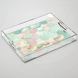MERMAID SHELLS - MINT & ROSEGOLD Acrylic Tray
