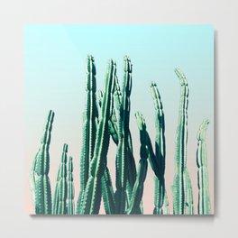Green Cactus 10 Summer Metal Print