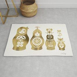 Russian Nesting Dolls – Gold Palette Rug