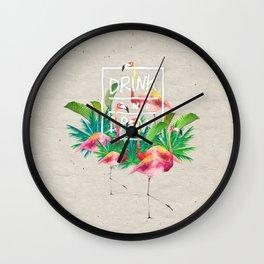 Flamingo Dream Wall Clock