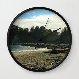 Driftwood on La Push Beach Wall Clock