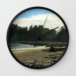 Driftwood on La Push Beach Wall Clock