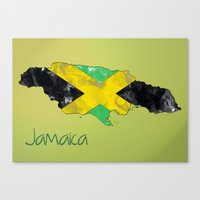 jamaica Canvas Prints featuring Jamaica by Dandy Octopus