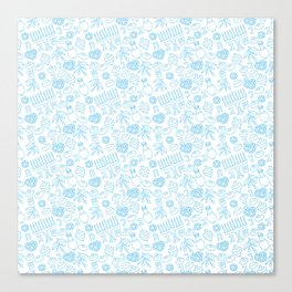 Simple Blue Hanukkah Seamless Pattern Canvas Print