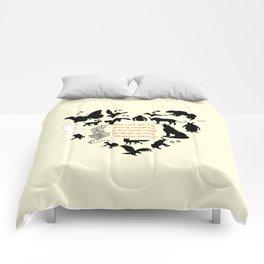 Love of the Animals Typography Comforters