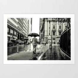 Wet Pavement NYC Art Print