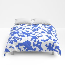 Spots - White and Royal Blue Comforters