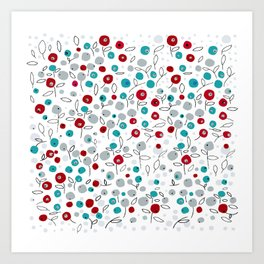 winter pattern1 Art Print