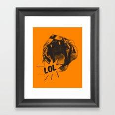 Jozzuv Lol (Orange) (Light on Dark Tee) Framed Art Print